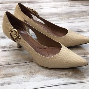 🍂🧡Beige Small Heel Leather Business Professional